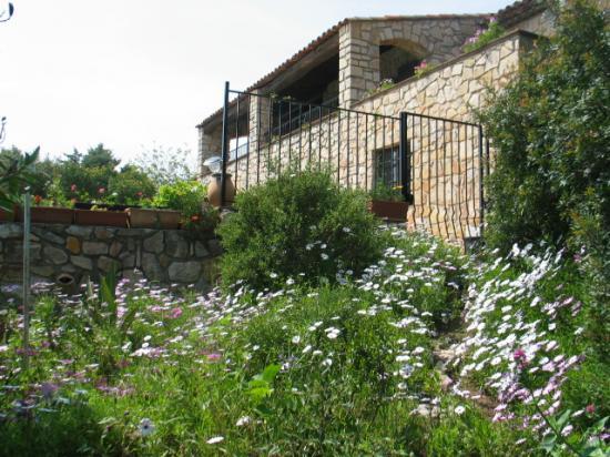 La façade sud de la villa