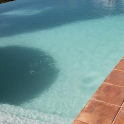 Les marches romaines de la piscine (50cm de profondeur)